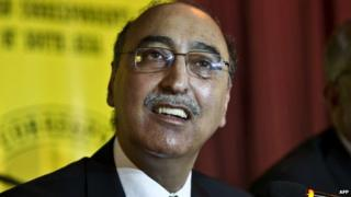 Pakistan High Commisioner Abdul Basit speaks at a press conference in Delhi on August 20, 2014.