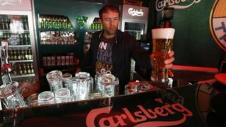 Carlsberg served in St Petersburg