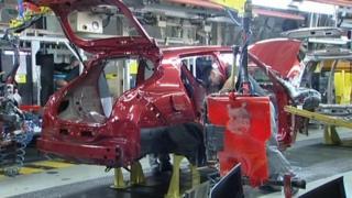 Sunderland's Nissan production line