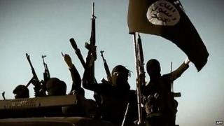 File photo of Islamic State (IS) fighters