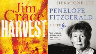 Covers of Harvest and Penelope Fitzgerald: A life