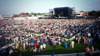 Rod Stewart concert for St Margaret's Hospice, Taunton County ground, June 2014