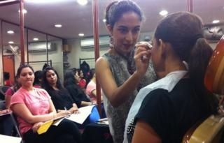A make-up studio in Delhi