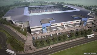 Artist impression of new stadium