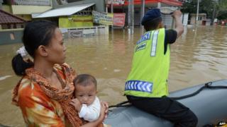 Indonesia floods 2014