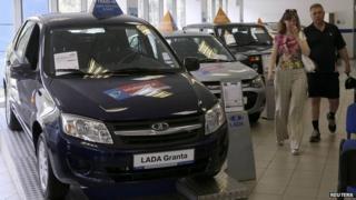 Russian car showroom