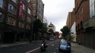 Upper Queen Street in Belfast city centre