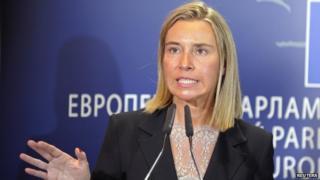 EU incoming foreign affairs chief, Federica Mogherini, 2 Sep 14