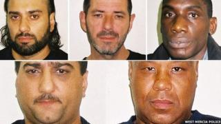 From clockwise: Tehery Mahmood, Robert Watters, Steven Taylor, Paul Murray and Tariq Mahmood