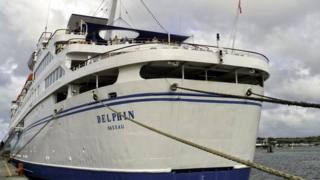 Cruise ship MS Delphin visits Pembroke Dock