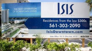 A billboard advertises the ISIS Downtown condo development in Florida.