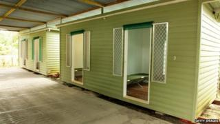 In this handout photo provided by the Australian Department of Immigration and Citizenship, facilities at the Manus Island Regional Processing Facility, used for the detention of asylum seekers that arrive by boat, primarily to Christmas Island off the Australian mainland, on 16 October 2012 on Manus Island, Papua New Guinea.