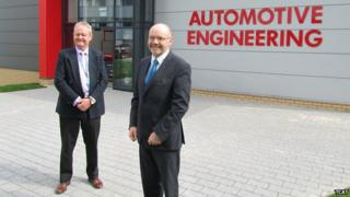 Jim Hillman with Telford College principal Chris Scott.