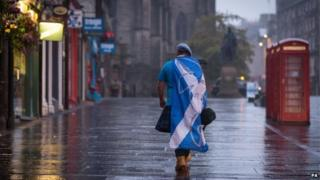 """A dejected """"Yes"""" supporter in Edinburgh"""