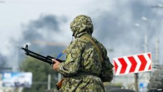 A pro-Russian rebel in Donetsk. Photo: 23 September 2014