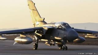 Royal Air Force Tornado GR4 aircraft have been in action over Iraq in the fight against IS