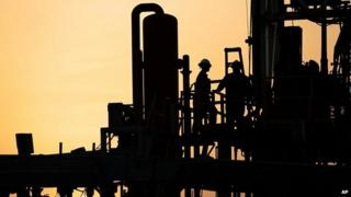 Oil rig in Bahrain