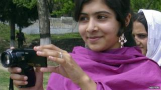 Malala Yousufzai, a 14-year-old schoolgirl, who was wounded in a gun attack, is seen in Swat Valley, northwest Pakistan,