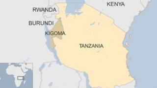 Map of Tanzania's Kigoma district