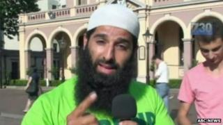 Mohammad Ali Baryalei, in image obtained from the Australian Broadcasting Corporation