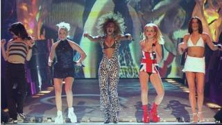 The Spice Girls performing at the 1997 Brit Awards (Image: PA)