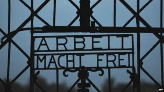 The notorious 'Work sets you free' at the former Dachau concentration camp