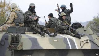 Ukrainian troops in Mariupol, 4 Nov