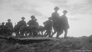 Cyclist Company troops