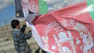 Afghan elections - Ashraf Ghani poster