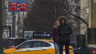 Pedestrians in Moscow (10 November 2014)