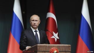 President Vladimir Putin in Turkey (1 Dec)