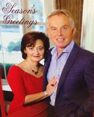 Tony and Cherie Blair's Christmas card