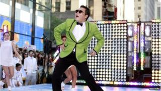 "Korean rapper-singer Psy performs on NBC""s 'Today show in New York in this 14 September 2012 file photograph."
