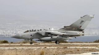 Tornado GR4 at RAF Akrotiri, in Cyprus