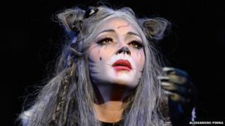 Nicole Scherzinger (Grizabella) in Cats at the London Palladium