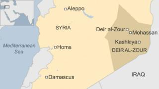 Map of eastern Syria