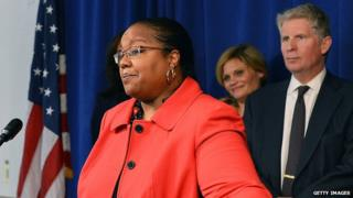 Kym Worthy at New York City press conference