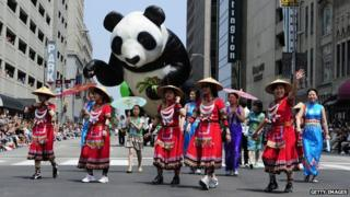 Parade organised by the Confucius Institute of Indianapolis, US, in May 2011