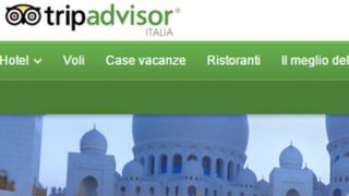 Homepage of Tripadvisor Italy