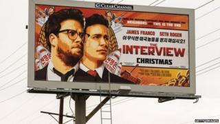 Billboard advertising The Interview (19 December)