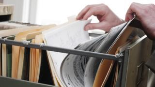 Leafing through a file