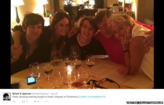 Elliot Spencer with Stephen Fry and Emma Thompson