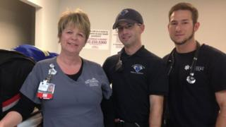 CES first aiders: Cindi Eldred, Sam Scheller and Jonathan Pulella