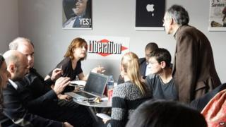 Charlie Hebdo at the Liberation office