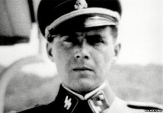 Josef Mengele in SS uniform