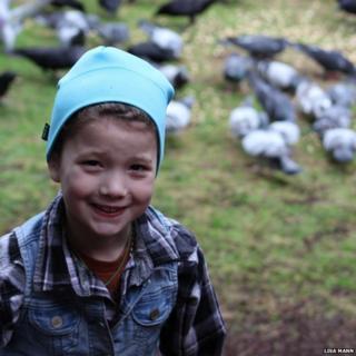 Gabi with birds