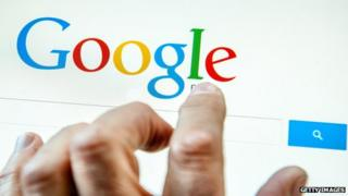 Google on touchscreen