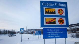 A Finnish speed limit sign