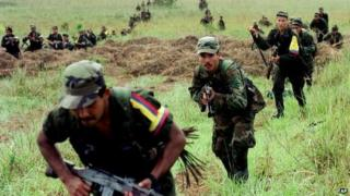 Farc rebels, August 2001