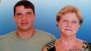 Rodrigo Gularte with his mother, Clarisse